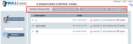 Colorado Real Estate Commission Forms DORA Contracts E-signature Control Panel